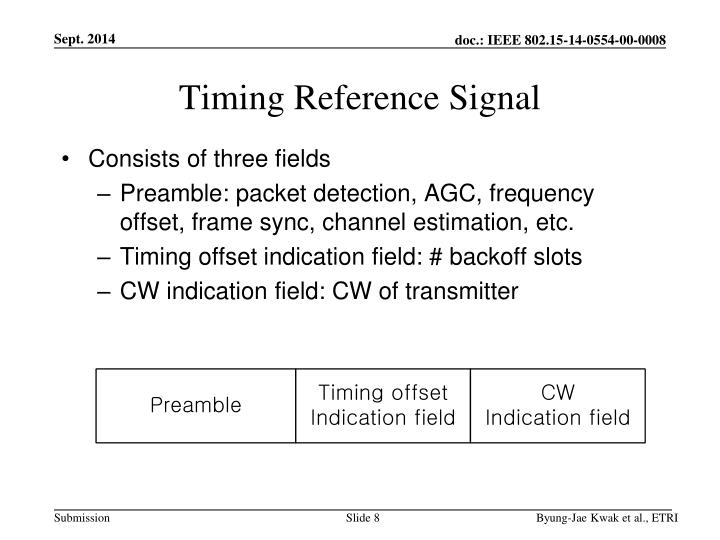 Timing Reference Signal