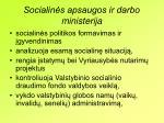 socialin s apsaugos ir darbo ministerij a
