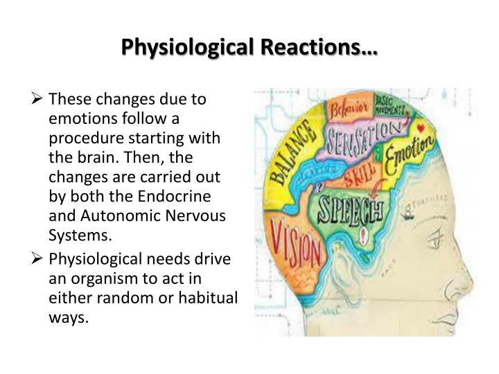 physiological reactions n.