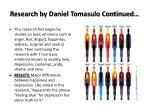 research by daniel tomasulo continued