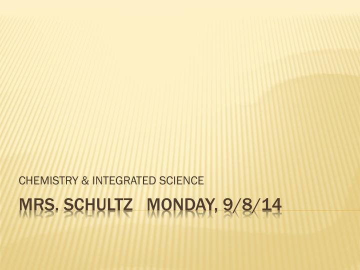 chemistry integrated science n.