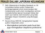 fraud dalam laporan keuangan1