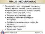 fraud kecurangan
