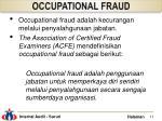 occupational fraud