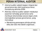 peran internal auditor
