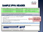 sample ipv6 header