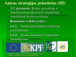 antras strategijos prioritetas iii