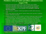 pateiktos vietos projekto parai kos administravimo etapai vii