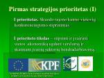 pirmas strategijos prioritetas i