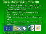 pirmas strategijos prioritetas ii