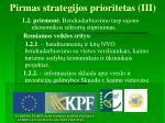 pirmas strategijos prioritetas iii