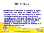 sip entities