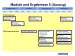 module und ergebnisse 5 auszug