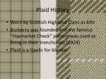 plaid history