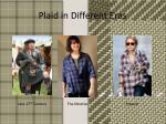 plaid in different eras