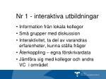 nr 1 interaktiva utbildningar