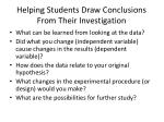 helping students draw conclusions from their investigation