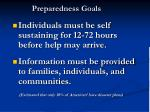 preparedness goals