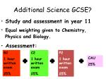 additional science gcse