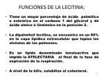 funciones de la lecitina