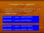 compare two sequence