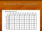 needleman wunsch algorithm