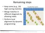 remaining steps