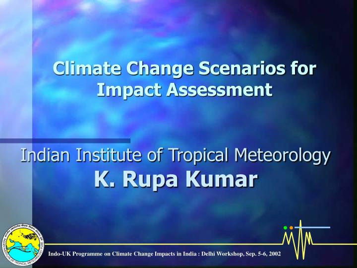 climate change scenarios for impact assessment n.