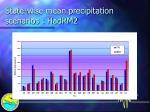 state wise mean precipitation scenarios hadrm2