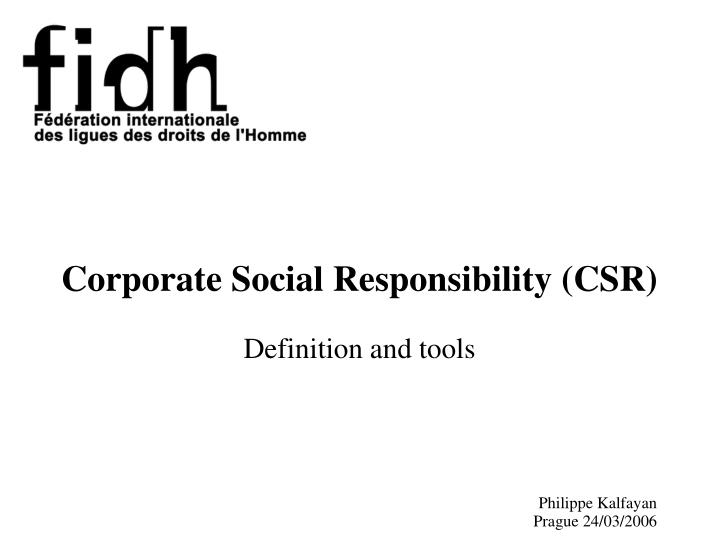 corporate social responsibility csr definition and tools n.