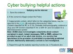 cyber bullying helpful actions1