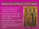 suppression of women in the church