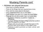 mustang parents cont