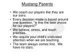 mustang parents