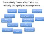 the unlikely team effort that has radically changed pest management