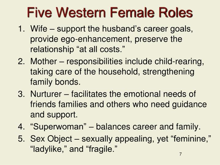 Five Western Female Roles