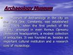 archaeology museum