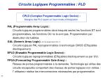 circuits logiques programmables pld1