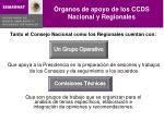 rganos de apoyo de los ccds nacional y regionales