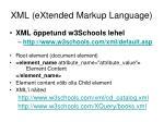 xml extended markup language