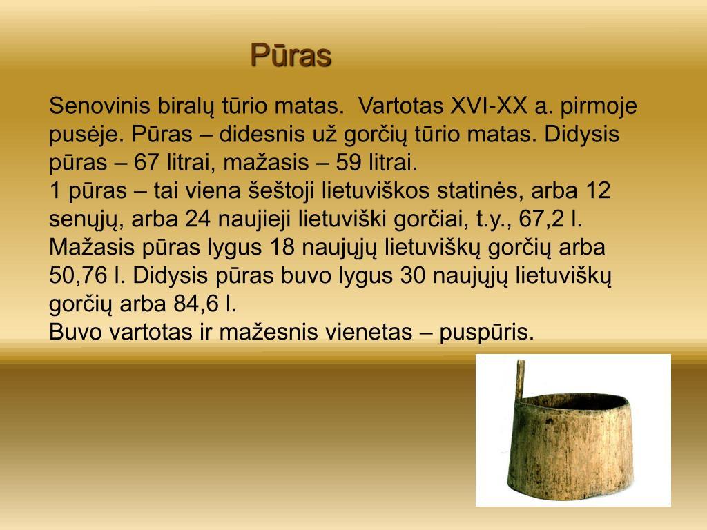 Ppt Senieji Matavimo Vienetai Naudoti Lietuvoje Powerpoint Presentation Id 6966636