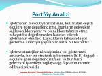 portf y analizi