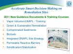 accelerate smart decision making on remediation sites