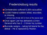 fredericksburg results