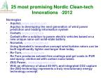 25 most promising nordic clean tech innovations 2012