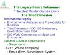 the legacy from lillehammer the best winter games ever the third dimesion