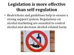 legislation is more effective than self regulation