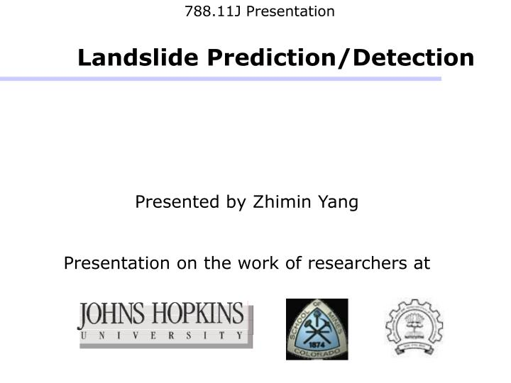 presented by zhimin yang presentation on the work of researchers at n.