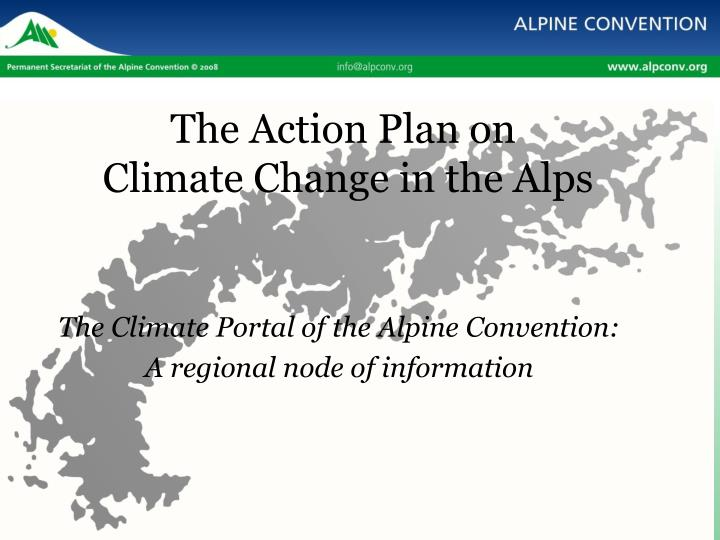 the action plan on climate change in the alps n.