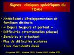 signes cliniques sp cifiques du tdah